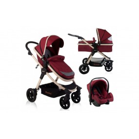 Baninni 3 in 1 Kinderwagen - Ayo - Misty Red