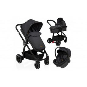 Baninni 3 in 1 Kinderwagen - Otto - Dusty Black