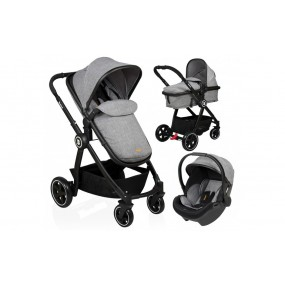 Baninni 3 in 1 Kinderwagen - Otto - Dusty Grey