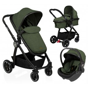 Baninni 3 in 1 Kinderwagen - Otto - Olive Green